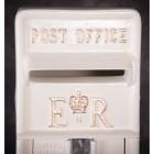 'Original Reproduction' White Elizabeth Regina Post & Parcel Box