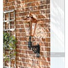 Exterior traditional victorian wall mounted lantern