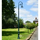 Extra Tall Victorian Lighting Column With Gothic Bracket and Luminaire