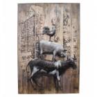 'Piggyback' Farmyard Animals 3D Metal Wall Art