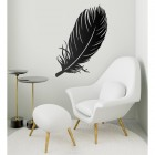 Feather Wall Art in Situ in a Modern Sitting Room