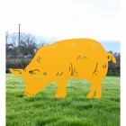Yellow Pig Silhouette