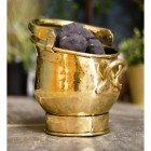 """Blenheim"" Coal Bucket Finished in Polished Brass"