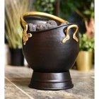 Polished Brass and Black Coal Bucket