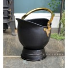 """Countess"" Coal Bucket Finsihed in Black with Brass Cary Handle"