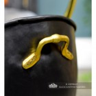 Polished Brass Carry Handle on the Back of the Coal Bucket