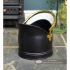 Black Iron Traditional Coal Bucket