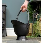 "Small ""Waterloo"" Black Iron Coal Bucket to Scale"