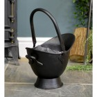 "Small ""Waterloo"" Black Iron Coal Bucket in Situ Holding Coal"