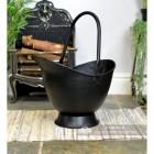 """Waterloo"" Iron Coal Bucket Finished in Black"