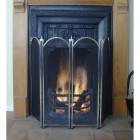 Dynasty Four Fold Fire Screen in Nickel