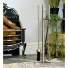 Contemporary Stainless Steel Companion Set