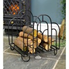 """Clarisa"" Art Deco Log Basket holding Logs"