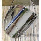 "Top View of the ""Evington"" Stainless Steel Curved Log Basket"