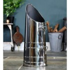 'Rosalie' Coal Hod- Polished Steel with Double Handle