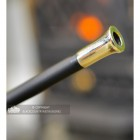 """Close-up of the Bright Chrome End of the """"Nuri"""" Fire Blow Pipe"""