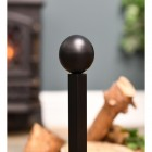 Detailed image of ball finial on fire dog