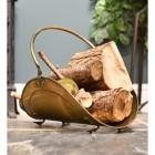 Antique Brass Log Holder