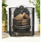beautiful black three fold fire screen