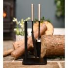 Contemporary freestanding brush & pan set
