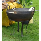 Traditional Kadai Bowl on the Garden in Use