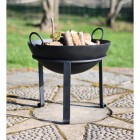 simplistic outdoor bbq with stand
