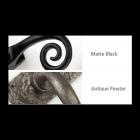 Matte Black and Antique Pewter Solid Bronze Rim Knob
