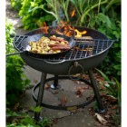 Fire Bowl Half Grill in Situ on a Fire Bowl