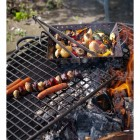 Fire Bowl Half Grill in Use Whilst Cooking Food