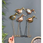 Five Wading Birds Wall Art to Scale