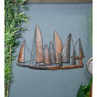 "Leaf Style ""Fleet of Boats"" Wall Art in USe in the Home"