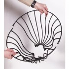 """Florentine"" Design Lamp Post Basket in Two Parts"