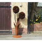 Large Garden Flower Sculpture in Situ
