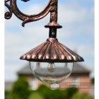 Flued Ornate Lamp Post Luminaire In Antique Copper Finish