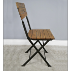 View From the Side of the Folding Industrial Dining Chair