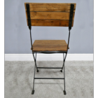 View of the Back of the Folding Industrial Dining Chair