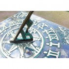 Close-up of the Verdigris Finish on the Sundial