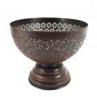 Rustic finish decorative fruit bowl