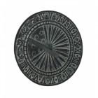 Free-Standing Verdigris Sundial & Column Close-Up