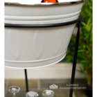 Close-up of yje White Finish on the Free Standing Wine & Ice Cooler