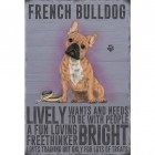 Classic French Bulldog Fact Metal Sign
