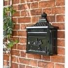 Front opening secure robust wall mounted post box