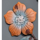 Close-up of the Orange Flower on the Frosted Leaf Wall Art
