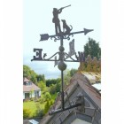 Rustic Game Season Weathervane in Situ