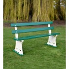 Heavy Duty Park Bench with wooden slats