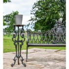 Long Gothic Aged Black Cast Iron Side Table
