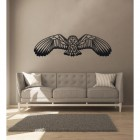 Geometric Barn Owl Wall Art in the Living Room