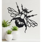 Geometric Iron Bumblebee Wall Art in Situ