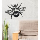 Geometric Iron Bumblebee Wall Art in Situ in a Sitting Room