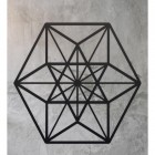 Geometric Cuboctahedron Wall Art in Situ on a Rustic Wall